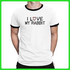 Teeburon I love my Rabbit Ringer T-Shirt - Animal shirts (*Amazon Partner-Link)