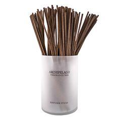 """Archipelago Botanicals Brown Diffuser Reeds - Sets of ten; 10""""l.  $4"""