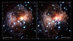 The V838 Monocerotis Light Echo (click for larger version)