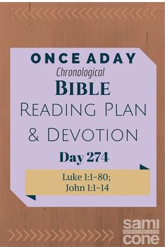 Once A Day Bible Reading Plan & Devotion Day 274