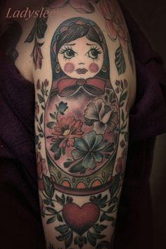 matroschka tattoo / russian doll