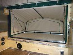 Image result for Enclosed Cargo Trailer Camper Conversion Fold Out Bed Kit