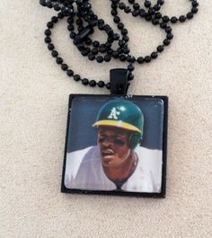 Oakland A's Ricky Henderson Necklace by QUEENBEADER on Etsy, $18.25