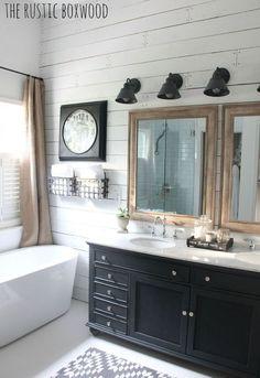 Inside This Bathroom's $6,000 Farmhouse-Style Facelift