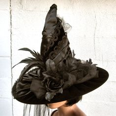 Victorian Gothic Witch Hat Deluxe