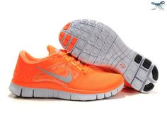 Nike Free Run 3 Vivid Orange Reflect Silver Pure Platinum Volt Womens 510643-800
