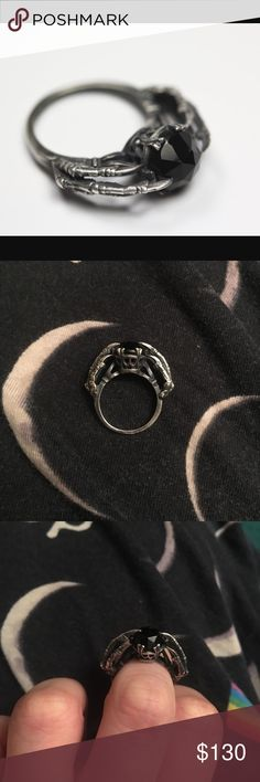 Bloodmilk belong to the underworld ring Selling my coveted blood milk belong to the underworld ring. They no longer make this ring. Perfect for a gothic spooky engagement ring. Size 4.5 bloodmilk Jewelry Rings