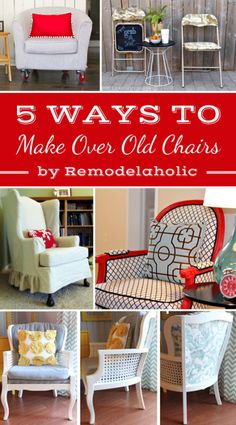 I'll be hitting up yard sales this summer for old chairs to show some love! 5 Ways to Make Over Old Chairs #spon