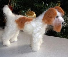 Handmade Needle Felted Wire Fox Terrier by KathysCraftShop on Etsy