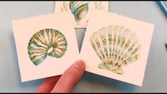 Seashell Painting/ Easy for Beginners/ Watercolor Painting Ideas/ Mini Monday Madness Watercolor Art Diy, Watercolour Tutorials, Drawing Tutorials, Watercolor Paintings, Oriental, Seashell Painting, Bird Drawings, Sales And Marketing, Acrylic Art