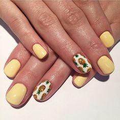 "57 Likes, 2 Comments - Seasons Salon And Day Spa (@seasonssalonanddayspa) on Instagram: ""Yummmmm... the cutest pineapple ever!!! Nails by Sierra @seasonssalonanddayspa #nailart…"""