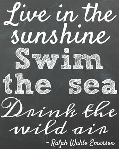 8x10 Free Printable Summer Quote Emerson at the happy housie