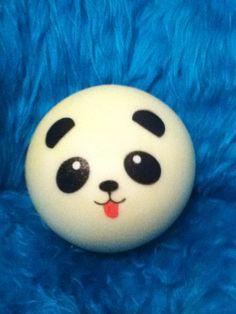 Male jumbo panda bun with tongue sticking out!   #mine