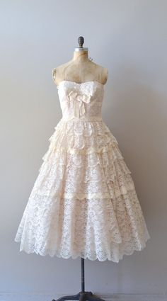 vintage 1950s dress / lace 50s dress / La Belle Saison dress