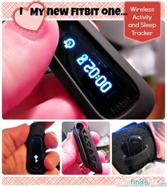 """I love my fitbit one - this tiny Wi-Fi/Bluetooth pedometer is just 2"""" long. At night it slips into a wrist strap to track my sleep efficacy."""