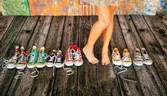 Senior photo (Morgan Tackett) All of her convers shoes!