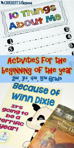 Get your year off to a terrific because of Winn Dixie! These unique activities will help you establish classroom expectations, get to know your students and begin setting goals for the year. Beginning Of The School Year, First Day Of School, Fourth Grade, Third Grade, Classroom Expectations, Teachers Aide, Reading Response, Book Projects, Reading Activities