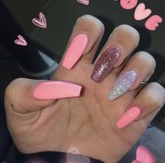 How to choose your fake nails? - My Nails Summer Acrylic Nails, Best Acrylic Nails, Acrylic Nail Designs, Nail Art Designs, Holiday Acrylic Nails, Acrylic Nail Art, Holiday Nails, Aycrlic Nails, Hair And Nails