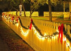 I've got a white fence. Now Just talking Alex into helping with the lights:)