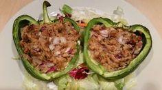 Recept voor koolhydraatarme paprika met tonijn en rode ui. Te gebruiken vanaf fase 1 in het PowerSlim afslankprogramma.
