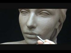 Sculpting a female head in clay. Sculpting tutorial and demo. - YouTube