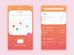 Calendar by 马小帽 #Design Popular #Dribbble #shots