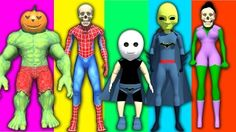 Superhero's Transforms Beasts And Ghosts   Finger Family Nursery Rhymes Songs! - YouTube