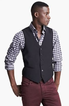 Free shipping and returns on John Varvatos Star USA 'Pitt' Wool Vest at Nordstrom.com. Sharp wool shapes a trim-fitting vest cut in a classic silhouette.