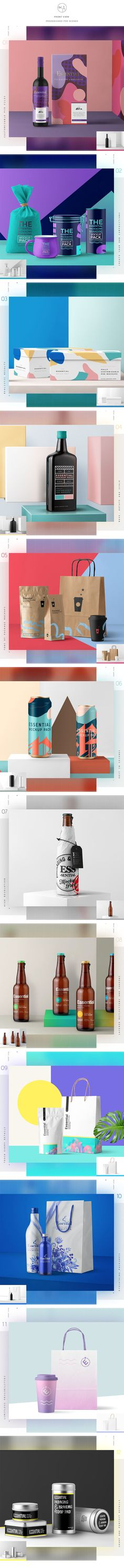Essential Packaging Branding Mockup by Mockup Zone on @creativemarket