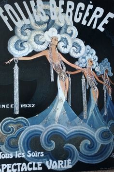 a Folies Bergere poster from 1932