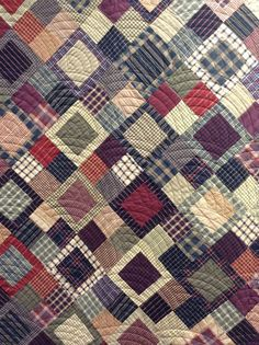 close up of a lovely plaids & stripes quilt, from the timeless traditions… Flannel Quilts, Plaid Quilt, Striped Quilt, Shirt Quilts, Plaid Fabric, Man Quilt, Boy Quilts, Scrappy Quilts, Quilting Fabric