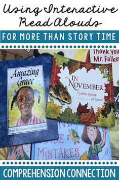 Using interactive read alouds for more than story time is very beneficial to students. In this post, ideas are shared on how students benefit with examples. Reading Comprehension Activities, Reading Strategies, Reading Skills, Teaching Reading, Teaching Ideas, Reading Lessons, Reading Resources, Emergent Literacy, Early Literacy