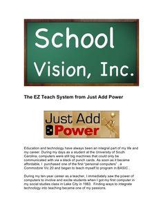 ez-teachsystem by SchoolVision Inc. via Slideshare