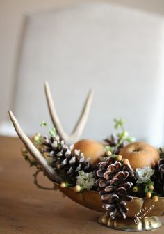 By the end of November, you might be getting tired of seeing pumpkins everywhere. This earthy option from Julie Blanner still feels like fall, even without them.   - TownandCountryMag.com