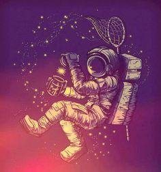 Astronaut capturing a star in a jar!