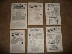 The One and Only Mattel Barbie 1978 A Frame DreamHouse Website For Devoted Fans: Paperwork: The Original Brochure & Booklets