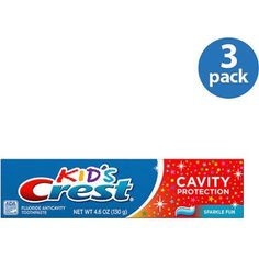 Crest Kid;s Cavity Protection Fluoride Toothpaste, Sparkle Fun Flavor, 4.6 oz (Pack of 3)