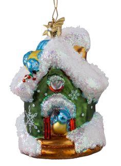 Baumschmuck Vogelhaus mit Blaumeisen