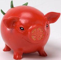 Home Grown 4025394 Tomato Hog Pig Collectibles Collectible Gifts Gift Deco Fruit, Veggie Art, Veggie Food, Vegetable Animals, Home Grown Vegetables, Veggies, Fruit Decorations, Edible Arrangements, Chocolate Art