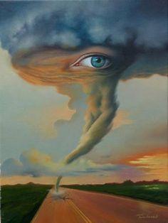 Eye of the Storm Surrealismo de Jim Warren. In Time