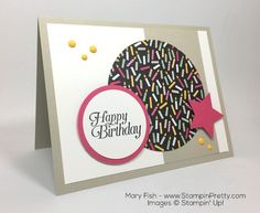 handmade card: Its My Party Birthday Card By Mary Fish ... uses Mojo Monday #431 Sketch Design ... like Mary's clean lines ...