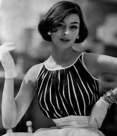1954 |  - Love this hairstyle and the gloves complete the outfit
