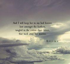 'Cotton Kisses' #atticuspoetry #atticus #poetry #poem #loveherwild #kiss #forever