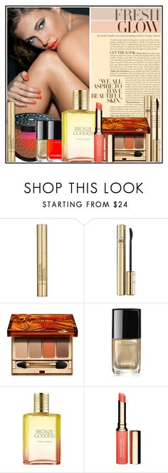"""Summer Glow"" by manicurelover ❤ liked on Polyvore featuring beauty, Lancôme, Estée Lauder, Dolce&Gabbana, Clarins, Chanel, Beauty, makeup, summerglow and summer2017"