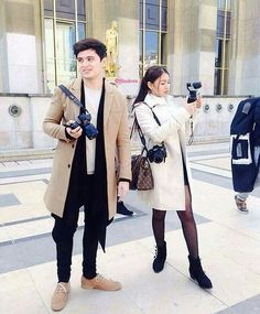 Ay grabe sila oh! daming bitbit pero slay na slay pa rin ang ootds… Nadine Lustre Ootd, James Reid, Jadine, Australia, Partners In Crime, Celebs, Celebrities, Baby Love, Fangirl