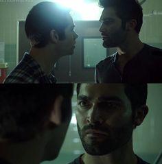 Stiles arguing with Derek in 3x10
