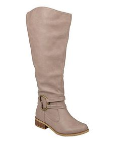 Look at this #zulilyfind! Stone Charming Wide-Calf Boot by Hailey Jeans Co. #zulilyfinds