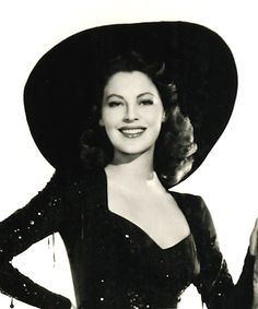 Ava Gardner....this hat makes her look like a glamorous witch.