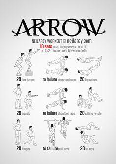 Train Like a Superhero|Neila Rey ~ Arrow workout
