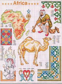 I would love to stitch the map of Africa however, I don't know if my eyesight would cooperate.
